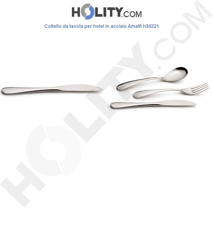 Coltello da tavola per hotel in acciaio Amalfi h34221