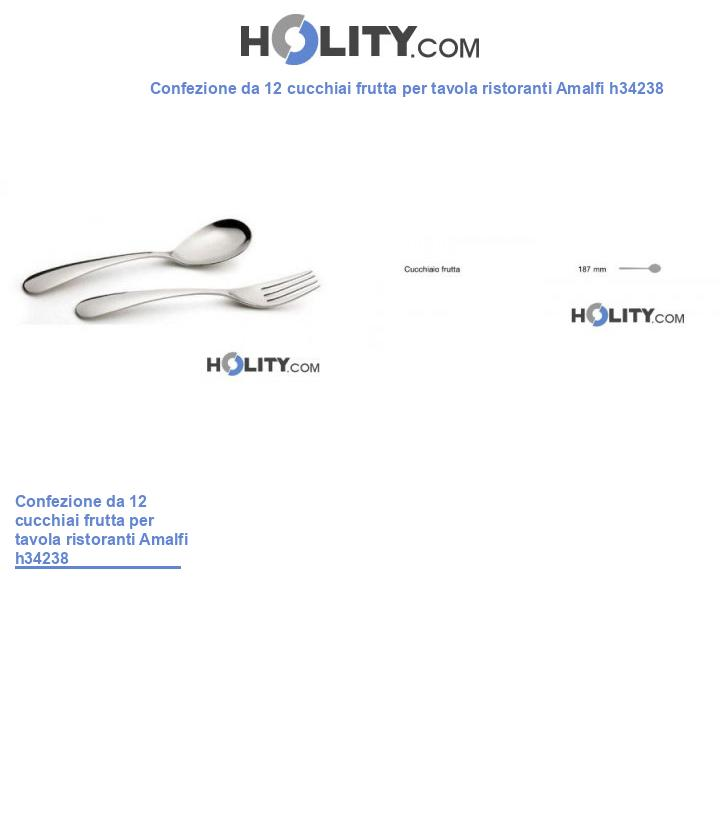 Cucchiaio frutta per tavola ristoranti Amalfi h34238