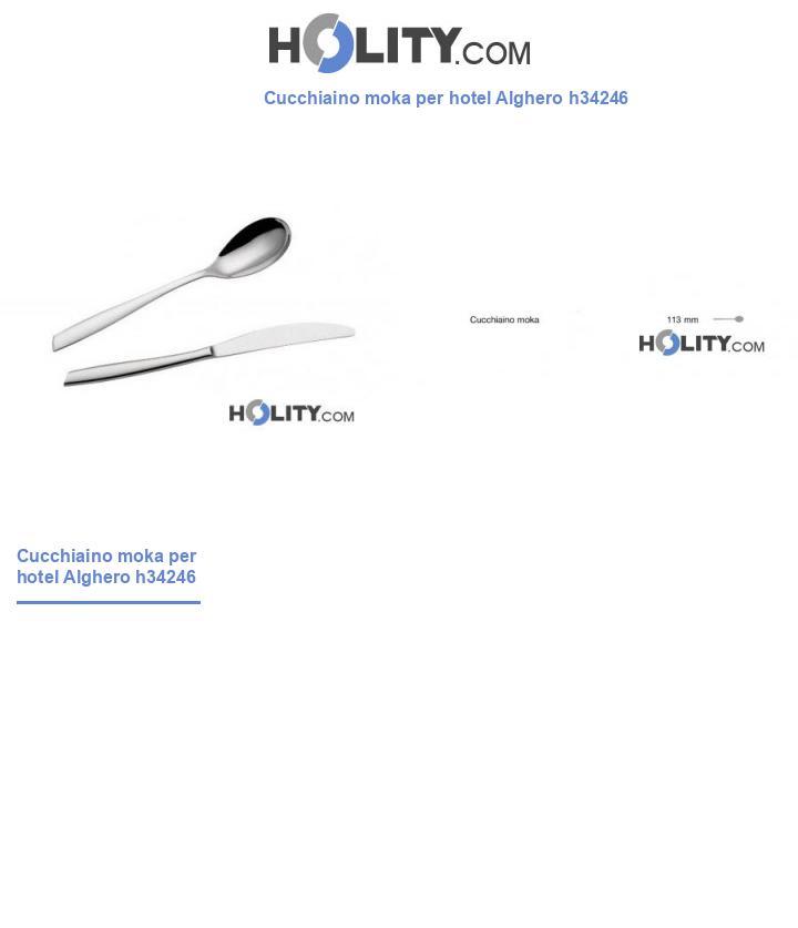 Cucchiaino moka per hotel Alghero h34246
