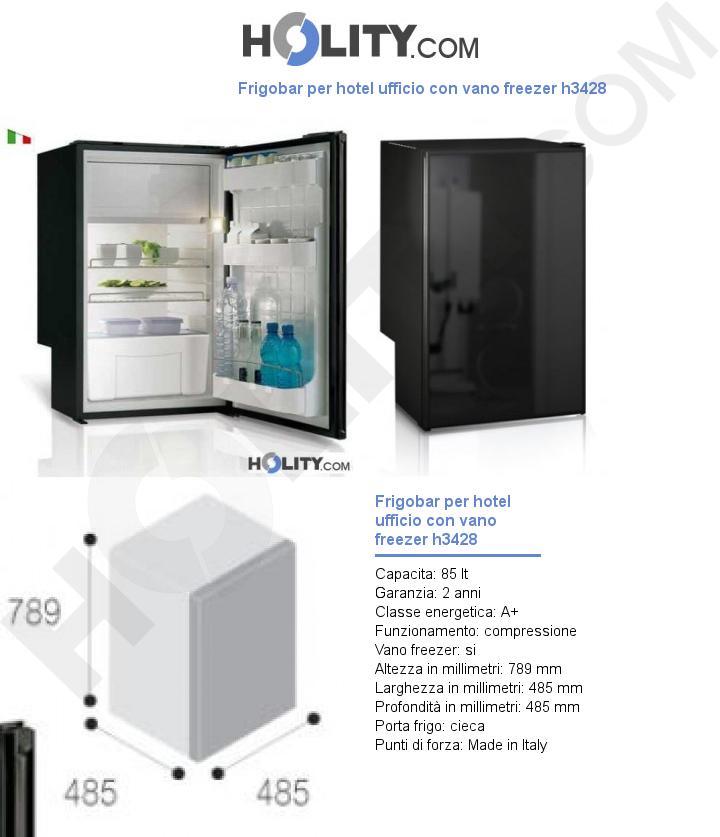 Frigobar per hotel ufficio con vano freezer h3428