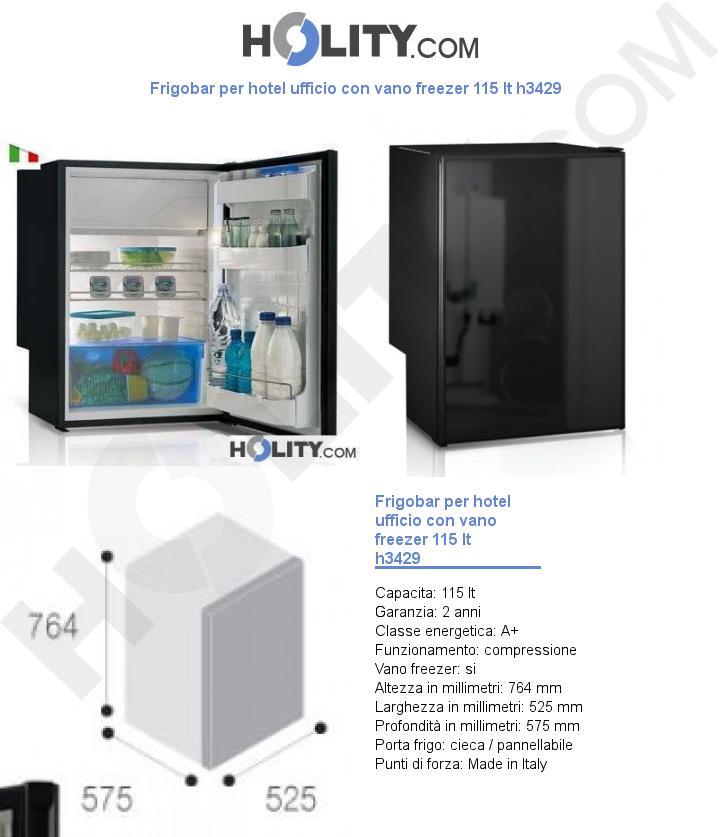 Frigobar per hotel ufficio con vano freezer 115 lt h3429