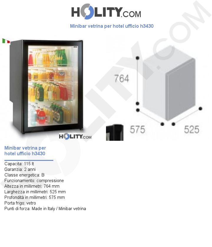 Minibar vetrina per hotel ufficio h3430