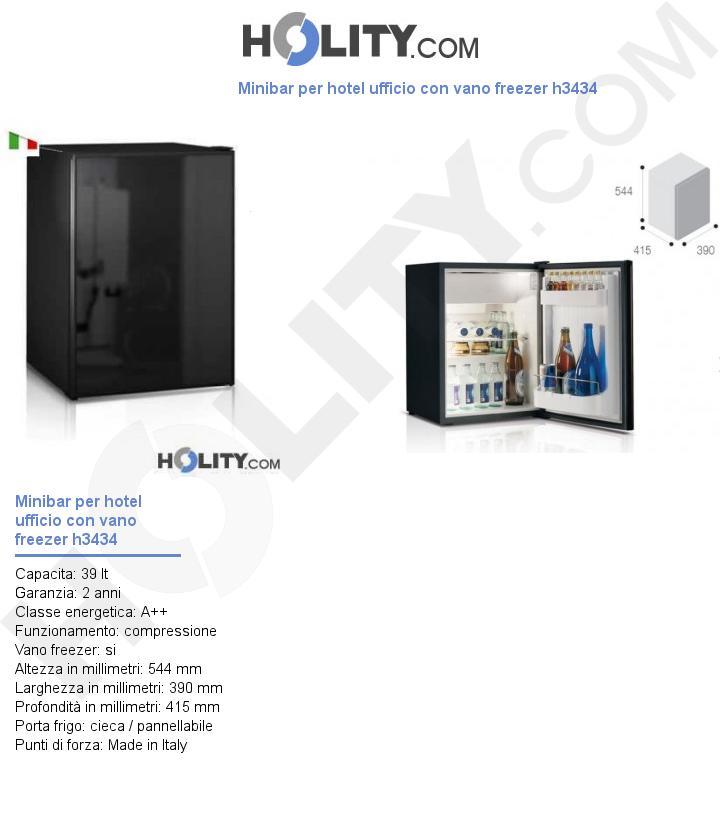 Minibar per hotel ufficio con vano freezer h3434