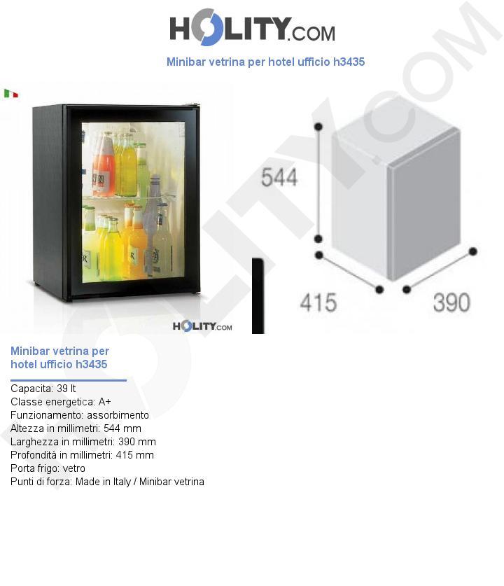 Minibar vetrina per hotel ufficio h3435