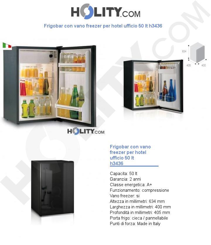 Frigobar con vano freezer per hotel ufficio 50 lt h3436