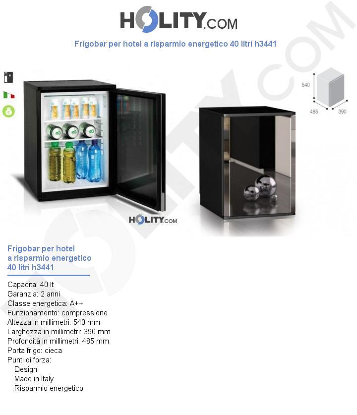 Frigobar per hotel a risparmio energetico 40 litri h3441