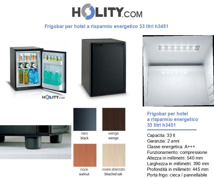 Frigobar per hotel a risparmio energetico 33 litri h3451