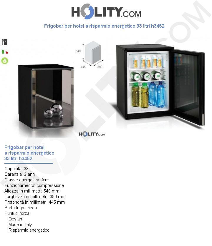 Frigobar per hotel a risparmio energetico 33 litri h3452