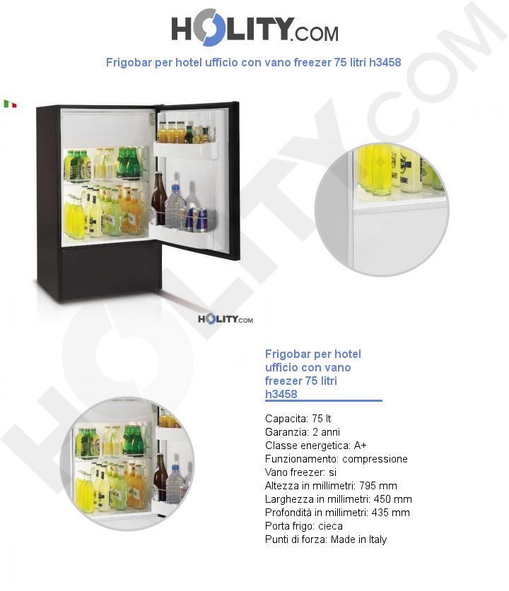 Frigobar per hotel ufficio con vano freezer 75 litri h3458