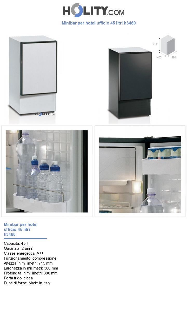 Minibar per hotel ufficio 45 litri h3460
