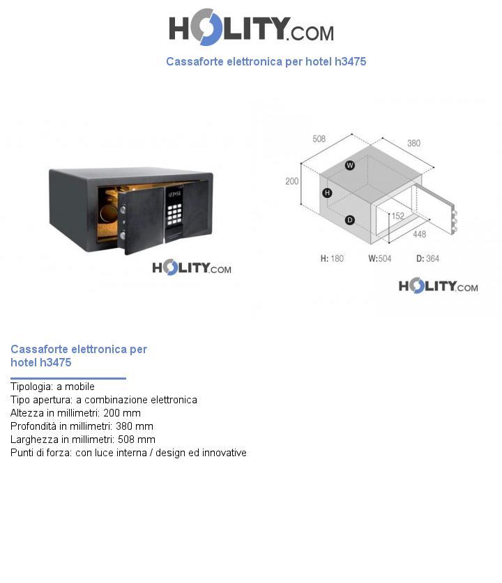 Cassaforte elettronica per hotel h3475
