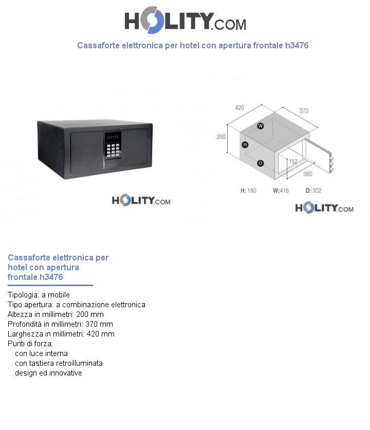 Cassaforte elettronica per hotel con apertura frontale h3476