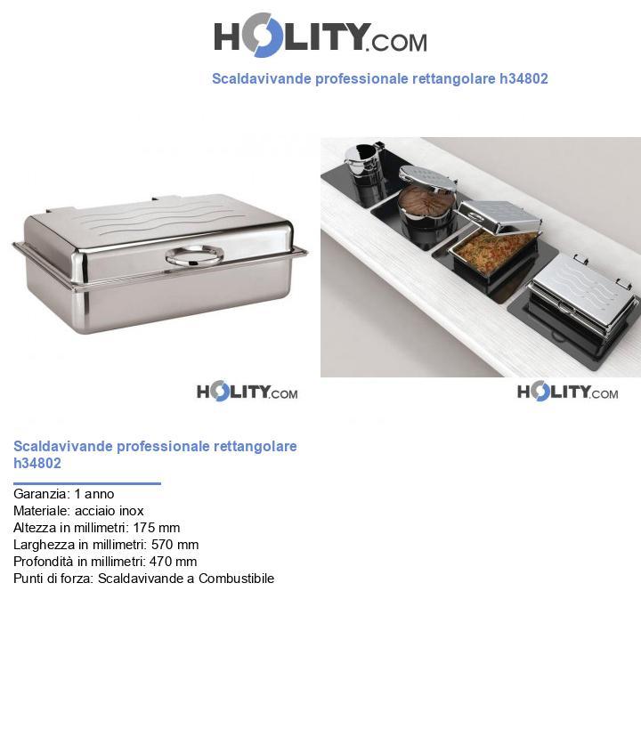 Scaldavivande professionale rettangolare h34802