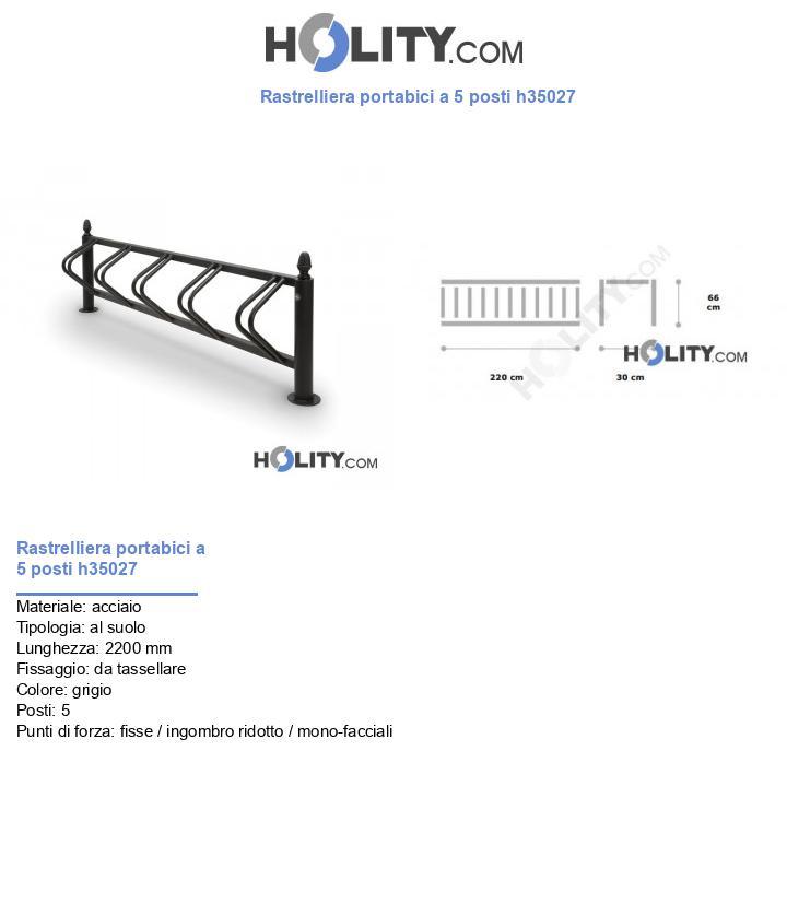 Rastrelliera portabici a 5 posti h35027