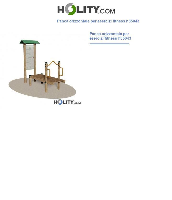Panca orizzontale per esercizi fitness h35043