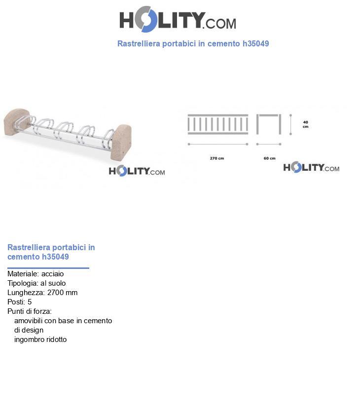 Rastrelliera portabici in cemento h35049