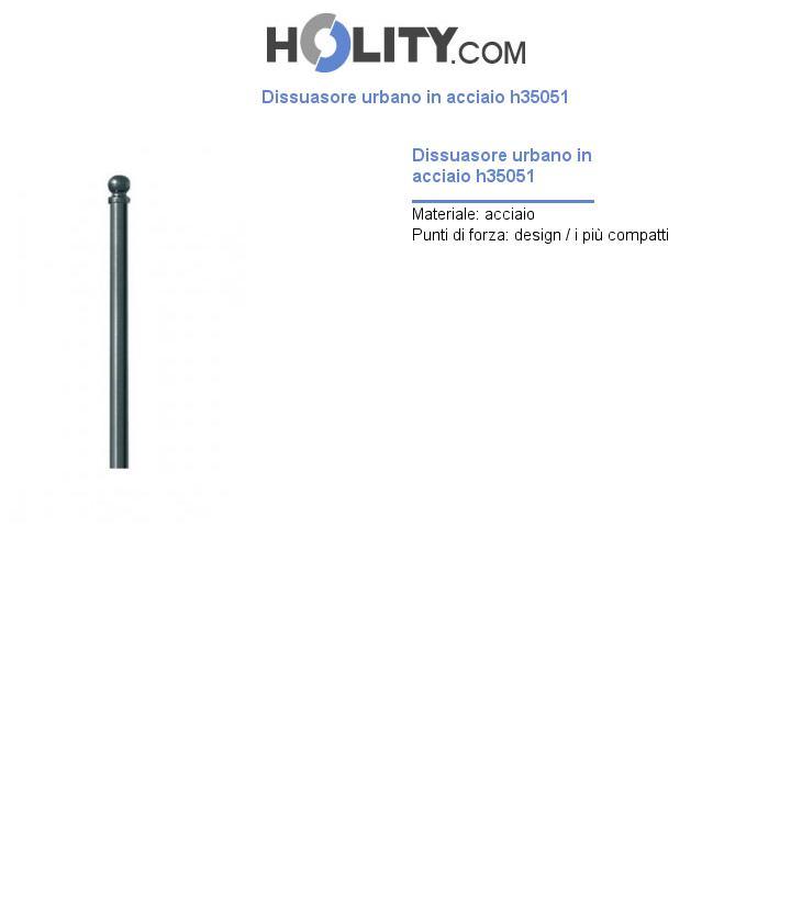 Dissuasore urbano in acciaio h35051