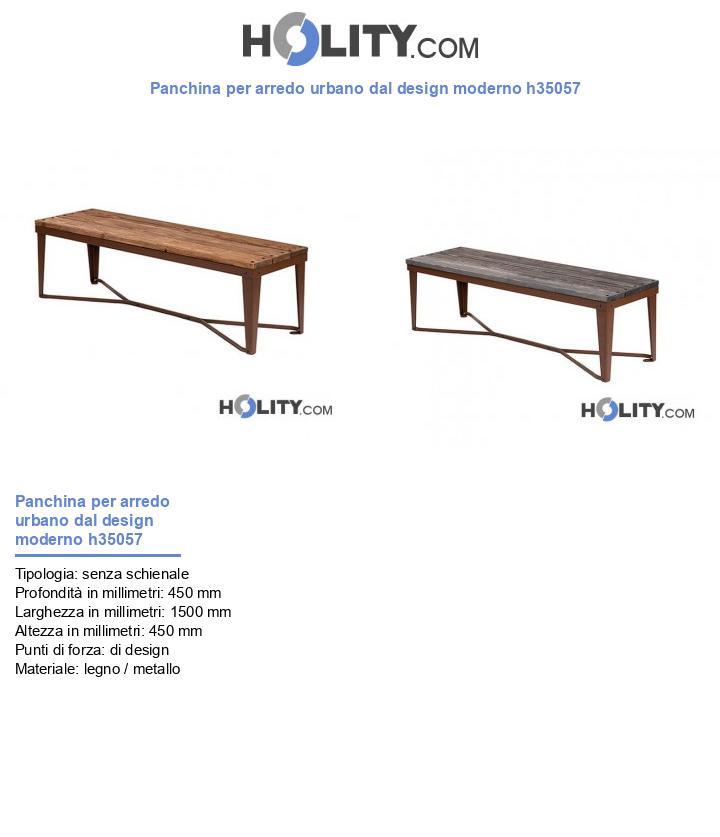 Panchina per arredo urbano dal design moderno h35057
