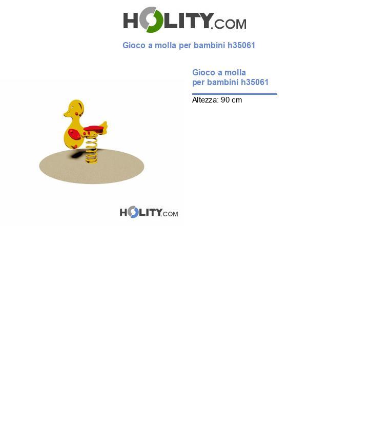 Gioco a molla per bambini h35061