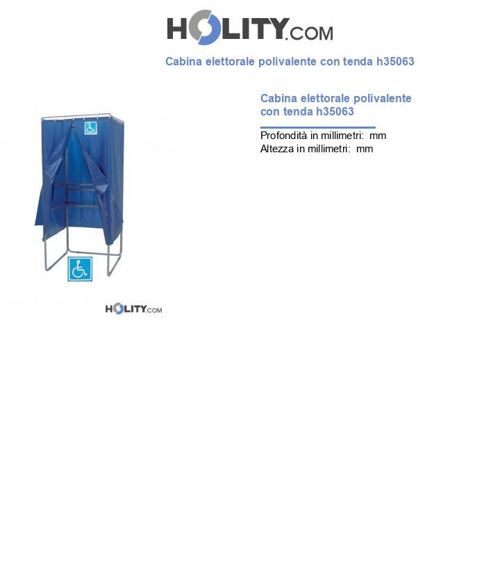 Cabina elettorale polivalente con tenda ignifuga h35063