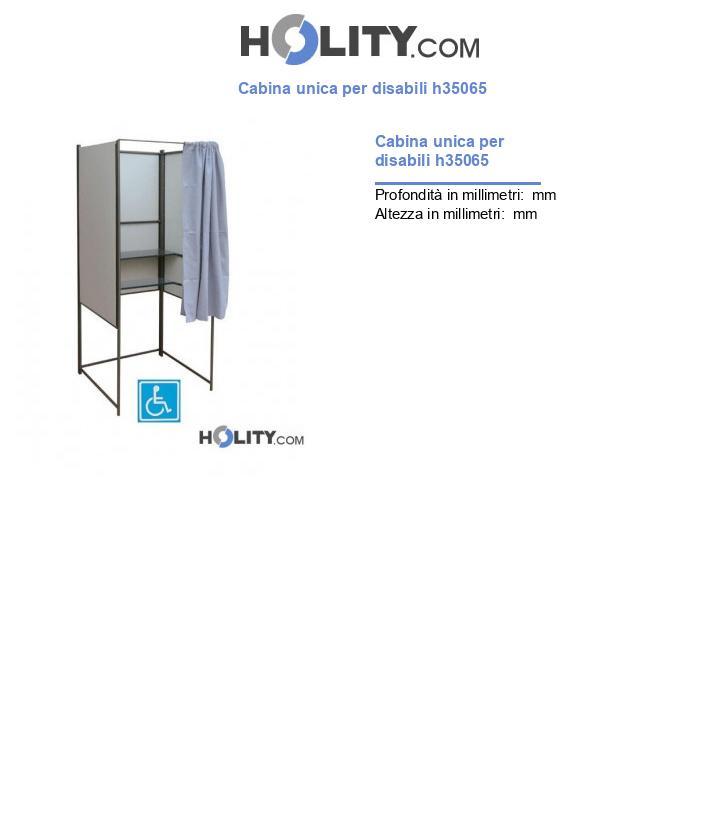 Cabina unica per disabili h35065