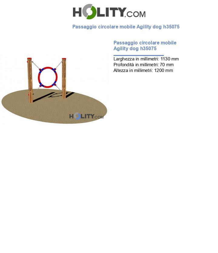 Passaggio circolare mobile Agility dog h35075