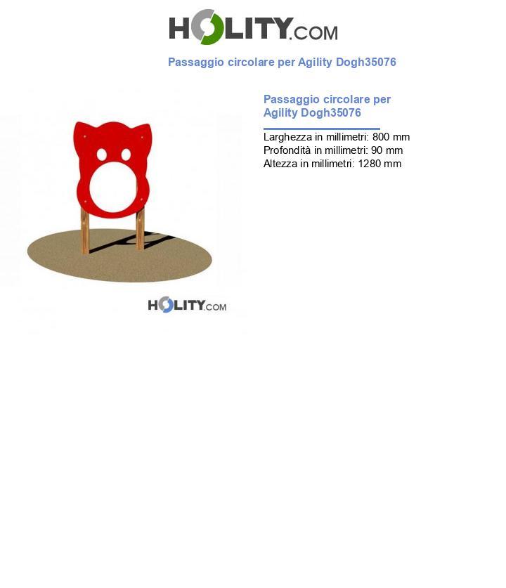 Passaggio circolare per Agility Dogh35076
