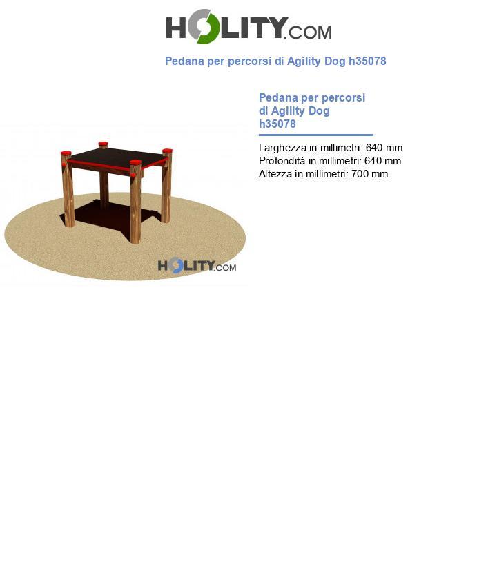 Pedana per percorsi di Agility Dog h35078