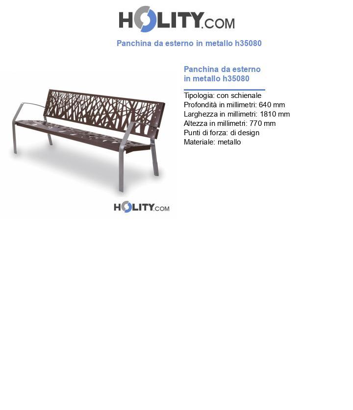 Panchina da esterno in metallo h35080