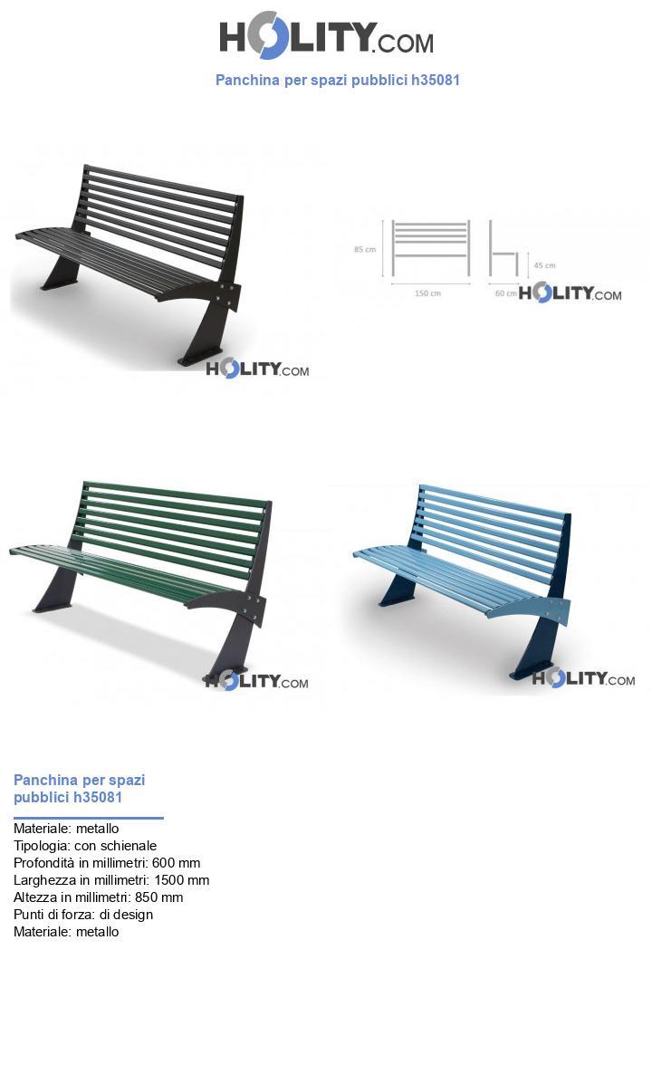 Panchina per spazi pubblici h35081