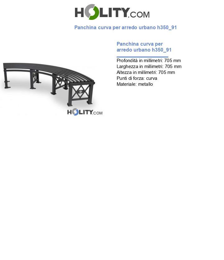 Panchina curva per arredo urbano h350_91