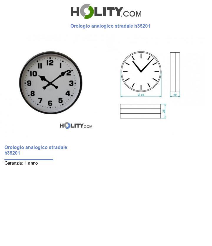 Orologio analogico stradale h35201