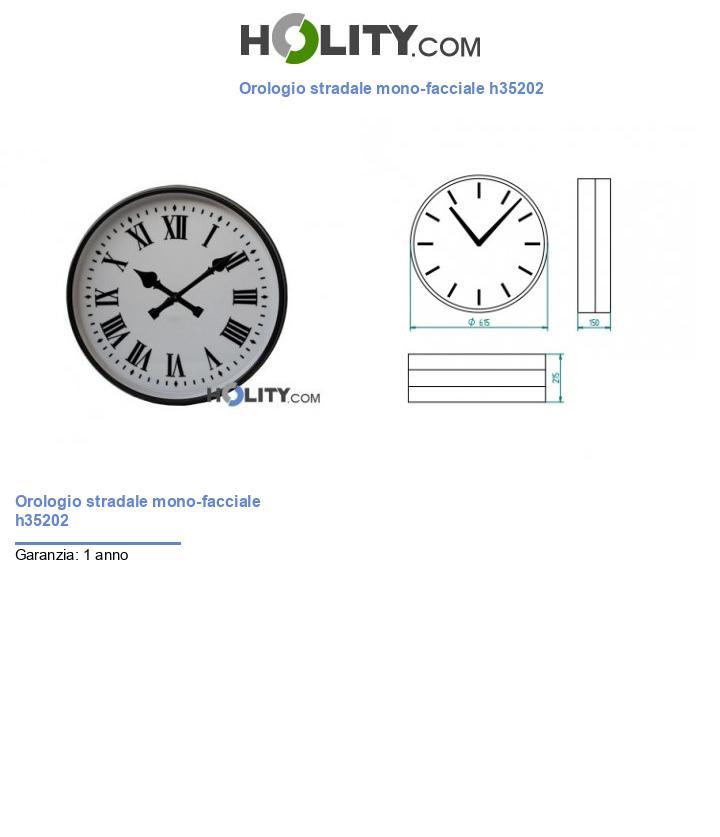 Orologio stradale mono-facciale h35202