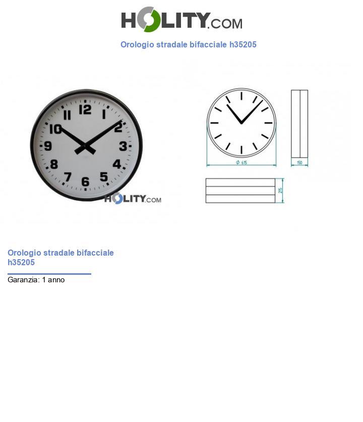 Orologio stradale bifacciale h35205
