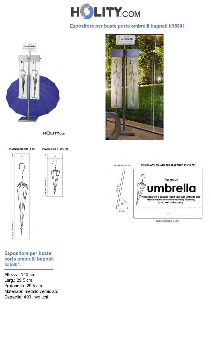 Espositore per buste porta ombrelli bagnati h35801