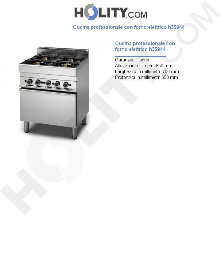 Cucina professionale con forno elettrico h35944