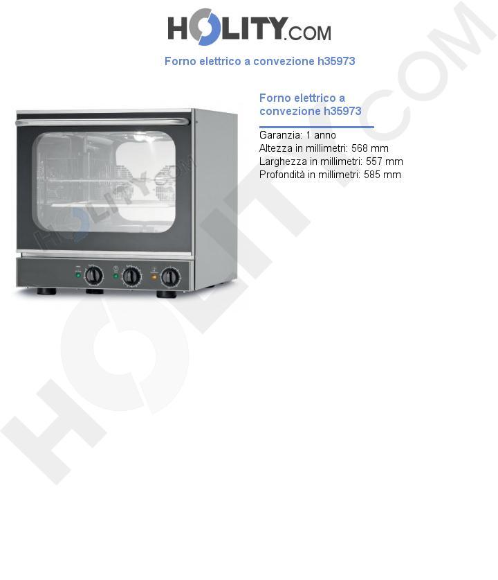 Forno elettrico a convezione h35973