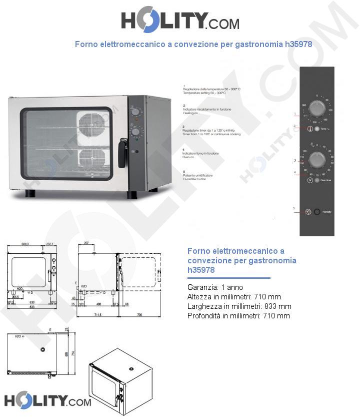 Forno elettromeccanico a convezione per gastronomia h35978