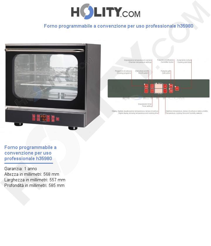 Forno programmabile a convenzione per uso professionale h35980