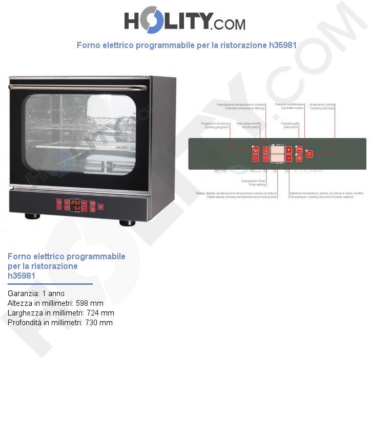 Forno elettrico programmabile per la ristorazione h35981