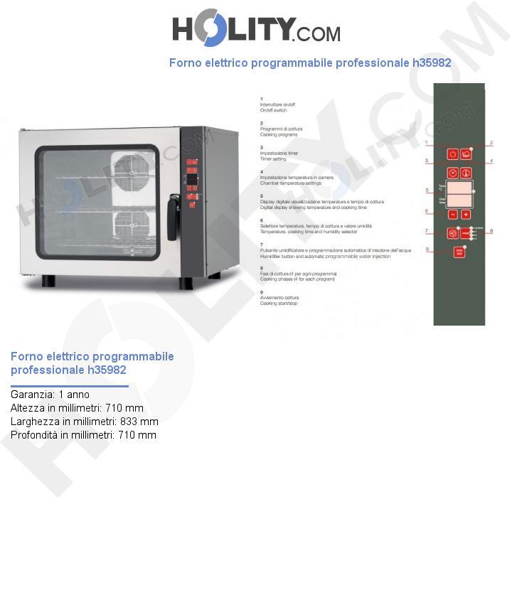 Forno elettrico programmabile professionale h35982