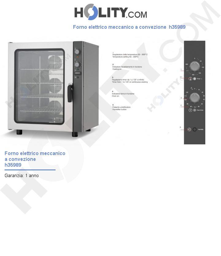 Forno elettrico meccanico a convezione  h35989