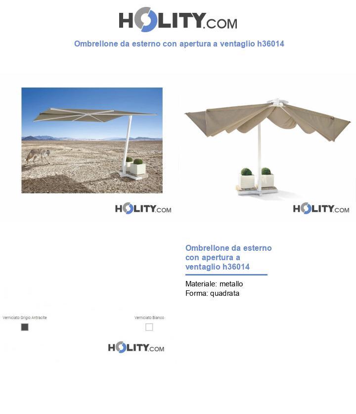 Ombrellone da esterno con apertura a ventaglio h36014