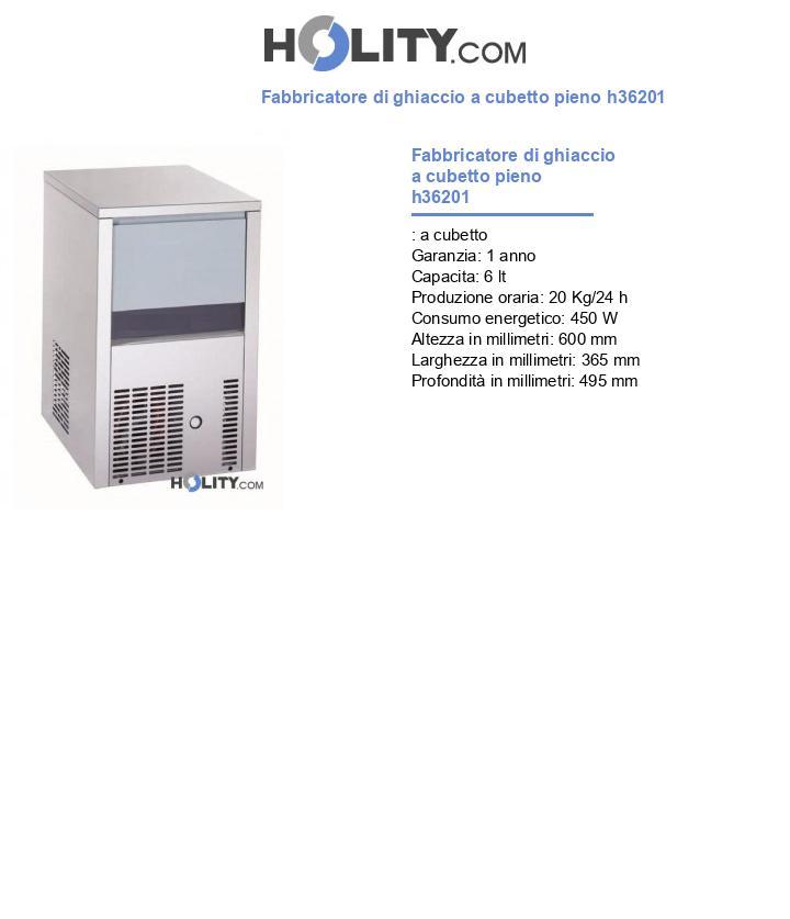 Fabbricatore di ghiaccio a cubetto pieno h36201