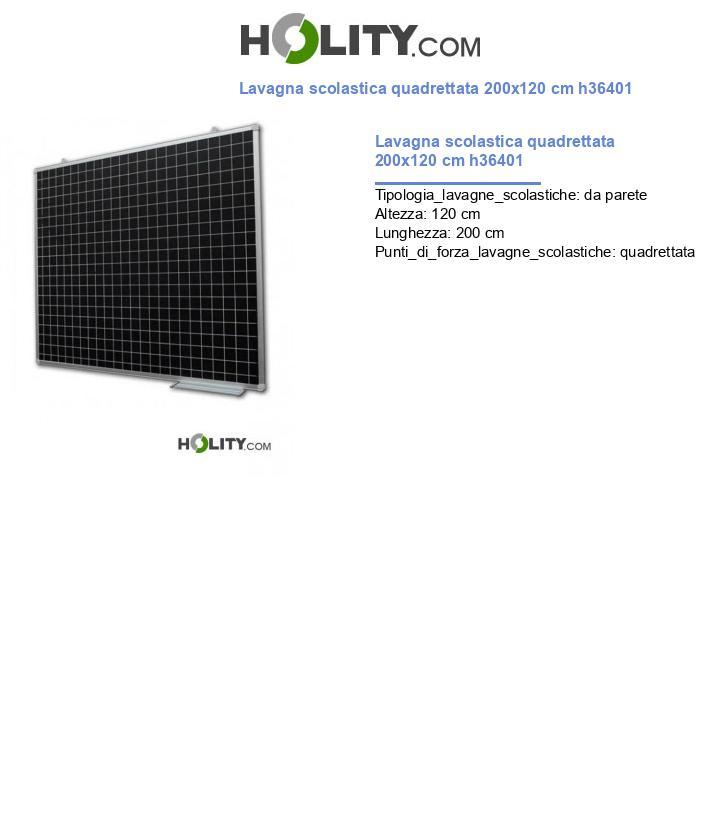 Lavagna scolastica quadrettata 200x120 cm h36401