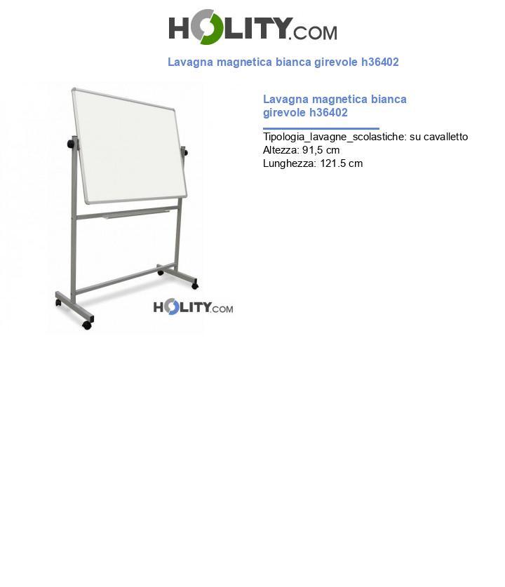 Lavagna magnetica bianca girevole h36402