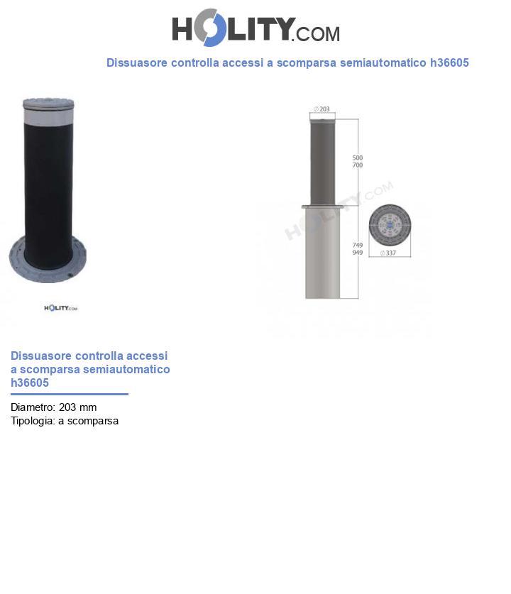 Dissuasore controlla accessi a scomparsa semiautomatico h36605