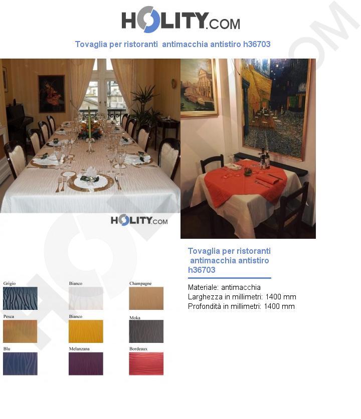 Tovaglia per ristoranti  antimacchia antistiro h36703