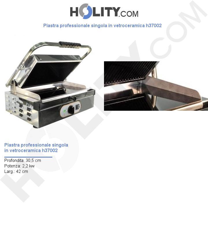 Piastra professionale singola in vetroceramica h37002