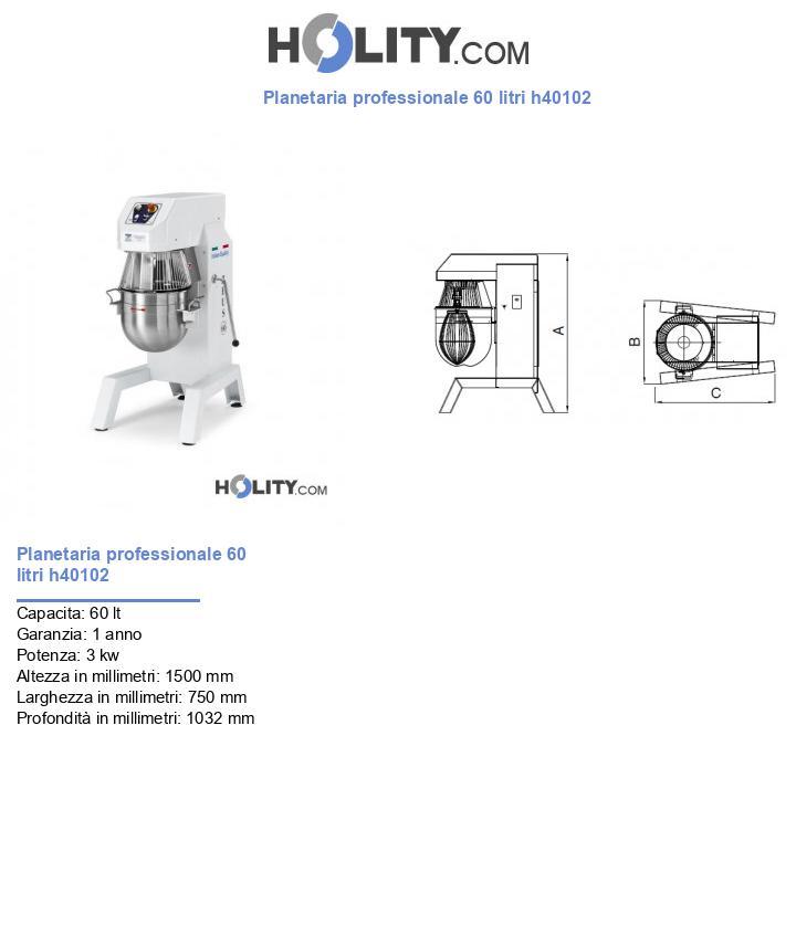 Planetaria professionale 60 litri h40102
